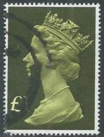 1977 GRAN BRETAGNA USATO EFFIGIE REGINA ELISABETTA II ALTI VALORI 1 £ - RC52-9 - 1952-.... (Elisabetta II)