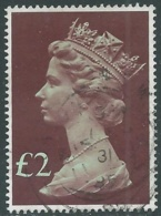 1977 GRAN BRETAGNA USATO EFFIGIE REGINA ELISABETTA II ALTI VALORI 2 £ - RC52-5 - 1952-.... (Elisabetta II)