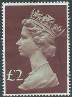 1977 GRAN BRETAGNA USATO EFFIGIE REGINA ELISABETTA II ALTI VALORI 2 £ - RC52-6 - 1952-.... (Elisabetta II)