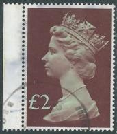 1977 GRAN BRETAGNA USATO EFFIGIE REGINA ELISABETTA II ALTI VALORI 2 £ - RC52-7 - 1952-.... (Elisabetta II)