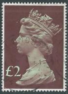 1977 GRAN BRETAGNA USATO EFFIGIE REGINA ELISABETTA II ALTI VALORI 2 £ - RC52-8 - 1952-.... (Elisabetta II)