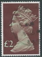 1977 GRAN BRETAGNA USATO EFFIGIE REGINA ELISABETTA II ALTI VALORI 2 £ - RC52-9 - 1952-.... (Elisabetta II)