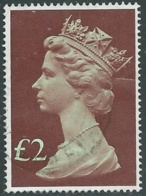 1977 GRAN BRETAGNA USATO EFFIGIE REGINA ELISABETTA II ALTI VALORI 2 £ - RC52-10 - 1952-.... (Elisabetta II)