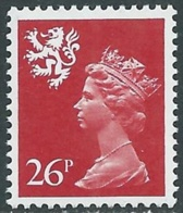 1982 GRAN BRETAGNA EMBLEMI REGIONALI SCOZIA 26p MNH ** - RC50-4 - 1952-.... (Elisabetta II)