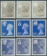 1983 GRAN BRETAGNA EMBLEMI REGIONALI 9 VALORI MNH ** - RC43-6 - 1952-.... (Elisabetta II)