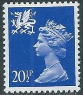 1983 GRAN BRETAGNA EMBLEMI REGIONALI GALLES 20 1/2p MNH ** - RC43 - 1952-.... (Elisabetta II)
