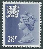 1983 GRAN BRETAGNA EMBLEMI REGIONALI GALLES 28p D. 15x14 MNH ** - RC40 - 1952-.... (Elisabetta II)