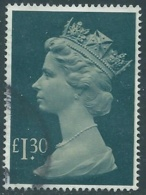 1983 GRAN BRETAGNA USATO EFFIGIE REGINA ELISABETTA II ALTI VALORI 1,30 £ - RC52 - 1952-.... (Elisabetta II)