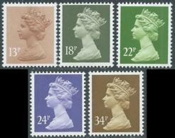 1984 GRAN BRETAGNA EFFIGIE REGINA ELISABETTA II 5 VALORI MNH ** - RC43-9 - 1952-.... (Elisabetta II)