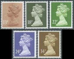 1984 GRAN BRETAGNA EFFIGIE REGINA ELISABETTA II 5 VALORI MNH ** - RC43-10 - 1952-.... (Elisabetta II)