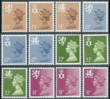 1984 GRAN BRETAGNA EMBLEMI REGIONALI 12 VALORI MNH ** - RC48-9 - 1952-.... (Elisabetta II)