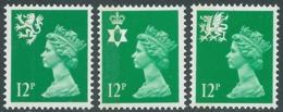 1986 GRAN BRETAGNA EMBLEMI REGIONALI 3 VALORI MNH ** - RC43-8 - 1952-.... (Elisabetta II)