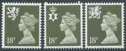 1987 GRAN BRETAGNA EMBLEMI REGIONALI 3 VALORI MNH ** - RC43-10 - 1952-.... (Elisabetta II)
