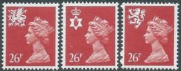 1987 GRAN BRETAGNA EMBLEMI REGIONALI 3 VALORI MNH ** - RC50-3 - 1952-.... (Elisabetta II)