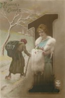 BONNE ANNEE 1917 - FEMME LADY FRAU - Nouvel An