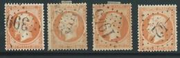 FRANCE - CLASSIQUE. 40 Ct Orange. NAPOLEON III  N°23x4. Oblitérés. Cote 60€. - 1862 Napoleon III