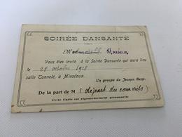 BM - 1400 - Invitation à Une Soirée Dansante En L Honneur Du Départ Des Conscrits - Tickets - Vouchers