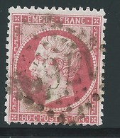 FRANCE - CLASSIQUE. 80 Ct Rose. NAPOLEON III  N°24. Oblitéré. Cote 50€. - 1862 Napoleon III