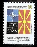MACEDONIA  NORTH 2020,MACEDONIA IN NATO,MNH, - Macedonië
