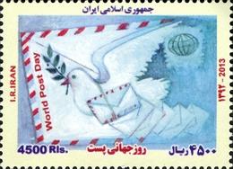 IRAN 2977A Journée De La Poste, Colombe - Correo Postal