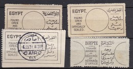 E223 – EGYPTE – EGYPT – RETURN STAMPS – 1907-29 – USED LOT - Gebraucht