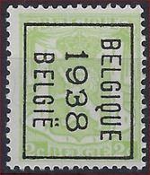 KLEIN STAATSWAPEN Nr. 418A België Typografische Voorafstempeling Nr. 330 B  BELGIQUE  1938  BELGIE  ! - Precancels