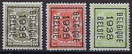 KLEIN STAATSWAPEN Nrs. 418A , 419 En 420 Allen Met Typografische Voorafstempeling  BELGIQUE  1938  BELGIE  ! - Precancels