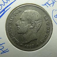 Spain 2 Pesetas 1883 *83 Silver - [ 1] …-1931 : Koninkrijk