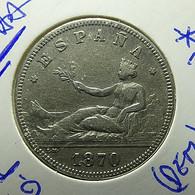 Spain 2 Pesetas 1870 *73 Silver - [ 1] …-1931 : Koninkrijk