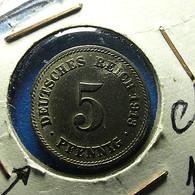 Germany 5 Pfennig 1913 F With Defect - 5 Pfennig