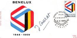 N° 1500 BENELUX Sur FDC De NIVELLES - Signature Jacqueline CAURAT - FDC