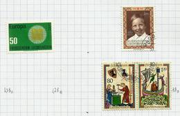 Liechtenstein N°478, 478C, 478D Cote 5.20 Euros (477 Offert) - Liechtenstein