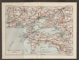 CARTE PLAN 1930 - BRETAGNE - BREST Et Ses ENVIRONS - Topographical Maps