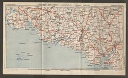 CARTE PLAN 1931 - BRETAGNE - BÉNODET CONCARNEAU QUIMPERLÉ LE POULDU LORIENT - Topographical Maps