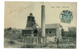Doyet - Mines - Puits Neuf ( Animation, Chevalet, Cheminée, Machinerie) Circulé, Date Illisible - France