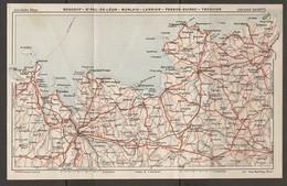 CARTE PLAN 1931 - BRETAGNE - ROSCOFF SAINT PAUL DE LÉON MORLAIX LANNION PERROS GUIREC TRÉGUIER - Topographical Maps
