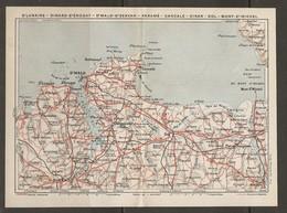 CARTE PLAN 1930 - BRETAGNE - St LUNAIRE DINARD St ÉNOGAT St MALO St SERVAN PARAMÉ CANCALE DINAN DOL MONT St MICHEL - Topographical Maps