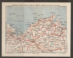 CARTE PLAN 1931 - BRETAGNE - SAINT BRIEUC LE VAL ANDRÉ LAMBALLE ERQUY SAINT CAST SAINT JACUT DE LA MER - Topographical Maps
