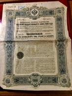 Gt  Impérial  De  Russie  Emprunt  De L' État  Russe  5%  1906 --------Obligation  De  187.50 Roubles - Russie