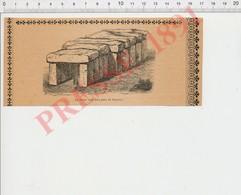 Presse 1891 Gravure La Roche Aux Fées Près Saumur (Essé Bretagne) Monument Mégalithique Dolmen 198PF49 - Documentos Antiguos