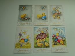 Beau Lot De 35 Cartes Postales De Fantaisie  Pâques    Mooi Lot Van 35 Postkaarten Fantasie  Pasen  - 35 Scans - Postales