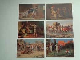 """Beau Lot De 12 Cartes Postales De """" L' Histoire Sainte """" """" Le Temps De Joseph Et De Moïse  """"  12 Postkaarten - Postales"""