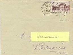 POSTE AUTOMOBILE RURALE : C.P. N° 5 NEUVY-ST SEPULCRE INDRE TàD Du 9-5-1953 – TIMBRE VERSAILLES 18 F. YT 939 - Postmark Collection (Covers)