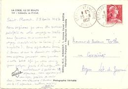 13---20 St Florent En Corse  Muller - Postmark Collection (Covers)