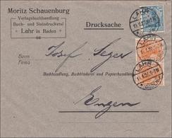 Perfin: Brief Aus Lahr/Baden, 1922, Moritz Schauenburg, Drucksache - Allemagne