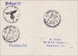 III. Reich: Postsache Berlin Nach Riesa Mit Versch. Stempeln 1942 - Non Classificati
