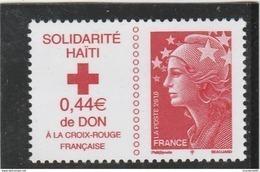 FRANCE 2010 NEUF SOLIDARITE HAITI YT 4434 - - Neufs