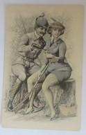 Künstlerkarte, Männer, Frauen, Jäger, Jagd, Mode, Sekt,   1909   ♥ (22875) - Künstlerkarten