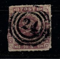 "DANEMARK 1854/1864 YT N° 7 (o) 16 Skill Lilas ""24"" /RECOMMANDE OFFERT POUR CE LOT/  PAY-PAL OBLIGATOIRE - ...-1851 Prephilately"