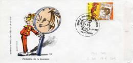 """LOT 89 - FDC BANDE DESSINEE - """"SPIROU"""" 1988 - Bandes Dessinées"""
